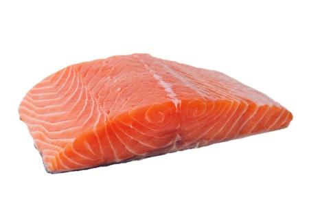 Salmon fillet isolated on white  Archivio Fotografico