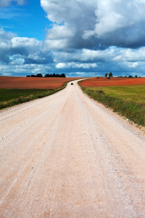 dirt road: Rural road in early autumn  Stock Photo