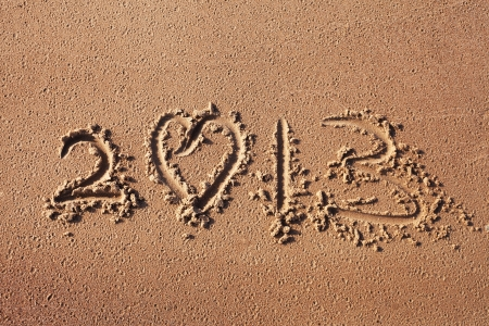Number 2013 in sand Stock Photo - 15222595