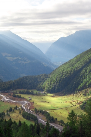 Green valley in southern Alps, Switzerland  Stock Photo