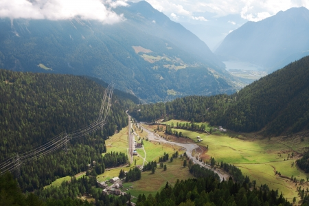 Valley in sothern Alps, Switzerland  photo