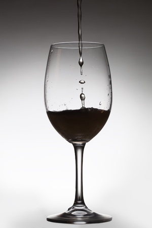 Pouring drink and transparent glass  photo