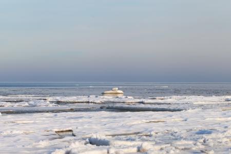 Icy coast of gulf of Riga, Baltic sea  Stock Photo - 17774376