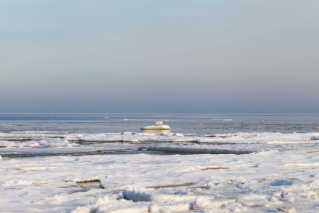 Icy coast of gulf of Riga, Baltic sea Stock Photo - 17774376