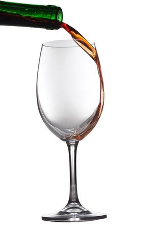 Wine glass isolated on white photo