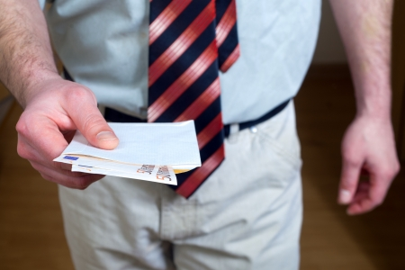 Man holding euro money Stock Photo - 17930265