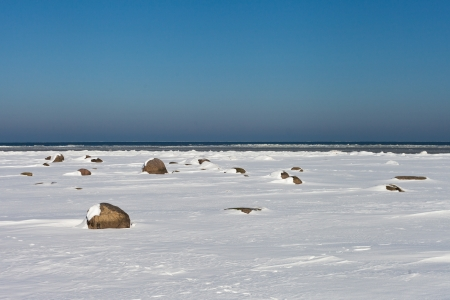Baltic sea coast in winter time Stock Photo - 18108268