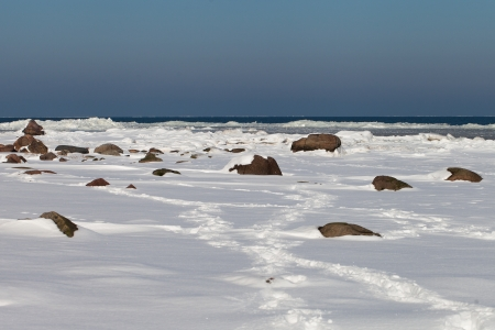Baltic sea coast in winter time Stock Photo - 18108246