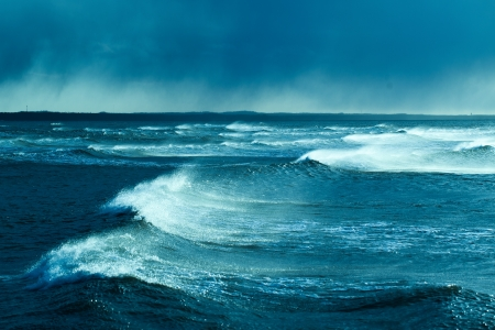 Waves in storm, Baltic sea