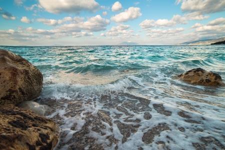 Vue sur la mer de l'�le de Capri, Italie
