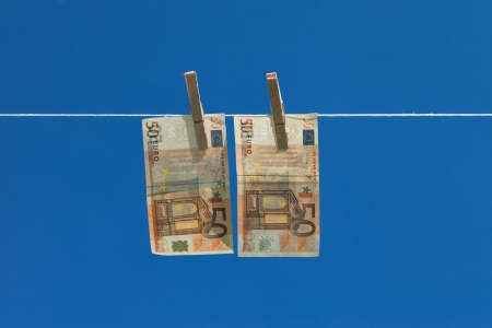 Drying of money after laundering  photo