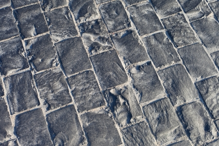 Surface of granite pavement. photo