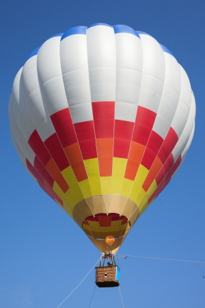 Hot air balloon in blue sky. Archivio Fotografico