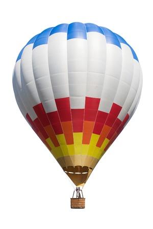 Hete lucht ballon op wit wordt geïsoleerd backdround.