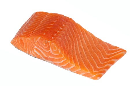 Salmon fillet isolated on white. photo