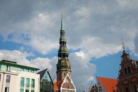 Saint Peter church in Riga, capital of Latvia. Stock Photo