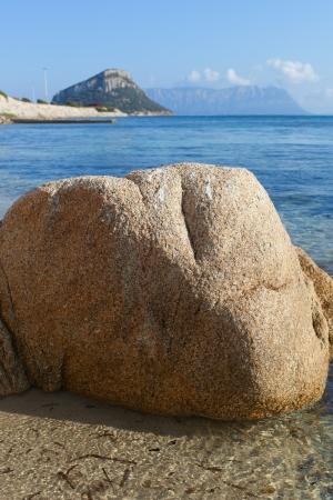 golfo: Stones at gulf Golfo Aranci coast, Sardinia, Italy.