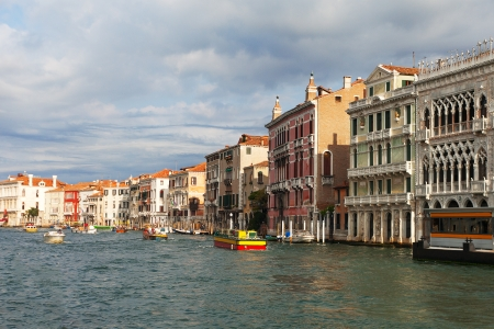 Grand canal in the morning, Venice, Italy. photo