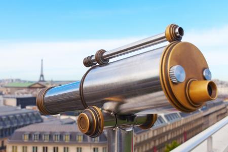 Sightseeing telescope in Paris, France. photo
