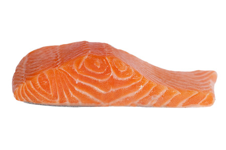 Salmon fillet isolated on white. Stock Photo - 23181314