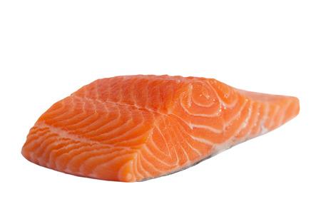 Filet de saumon isol� sur blanc. Banque d'images