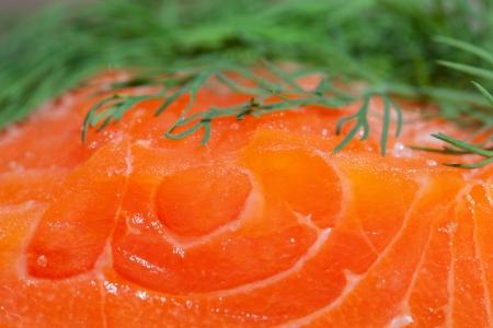 Closeup of salmon meat. photo