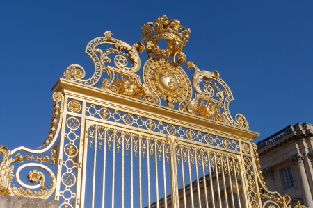Golden gate of Versailles palace, France. Editorial