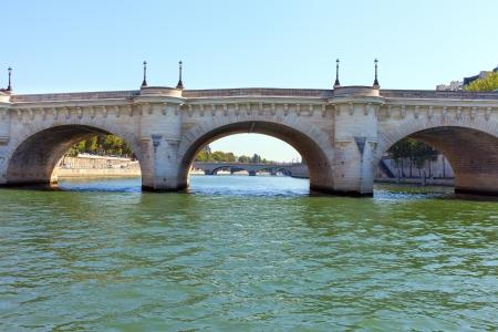 Parisian bridges over Seine river, Paris, France. photo