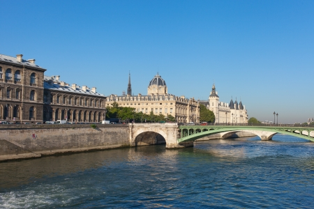 Nice morning on Seine river, Paris, Europe.