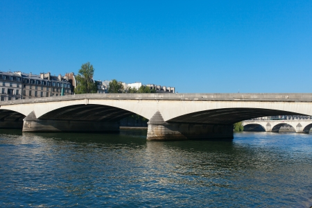 Nice morning on Seine river, Paris, Europe. photo