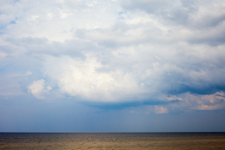 Cold and stormy clouds over Baltic sea.