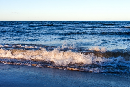 Stormy waves at Baltic sea coast. photo