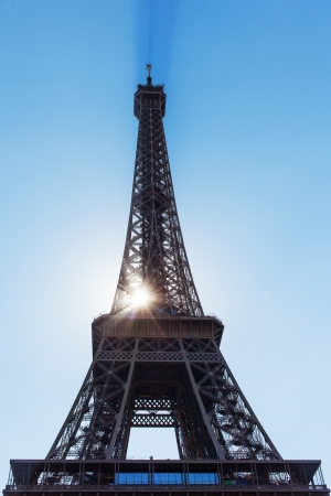 Eiffel tower in nice summer day, Paris, France. photo