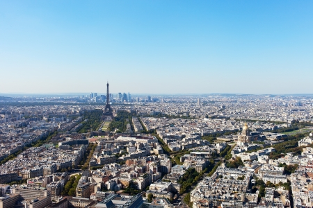 Aerial view of Paris, France. photo