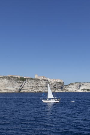 South coast of corsica at Bonifacio city, France, photo
