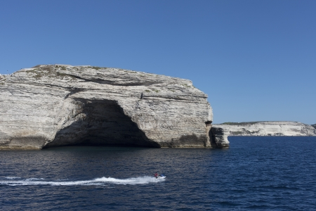 Cliffs on south Corsica coast, France. photo