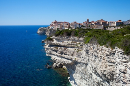 View to Bonifacio city, Corsica, FRANCE. photo