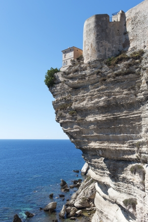 Home on Bonifacio coast, Corsica, France. photo