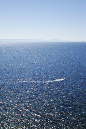Mediterranean sea between Corsica and Sardinia. photo