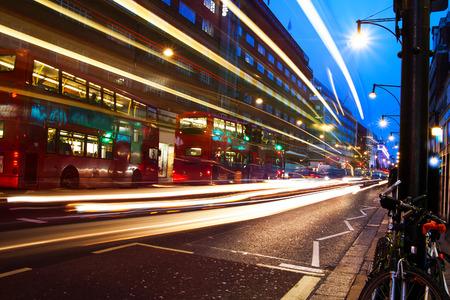 Oxford street in night, London, United Kingdom.