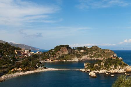 Isola Bella beach near Taormina, Sicily, Italy. Stock Photo