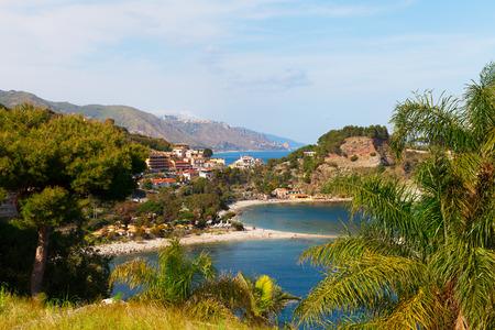 bella: Isola Bella beach near Taormina, Sicily, Italy. Stock Photo