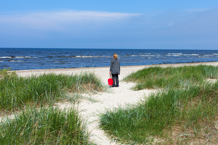 Beach at Jurmala, Latvia  Stock Photo