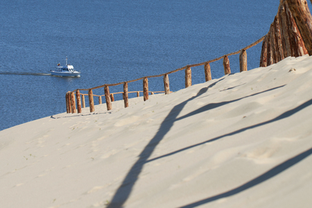 Sandy Dunes on the Curonian Spit in Nida, Lithuania