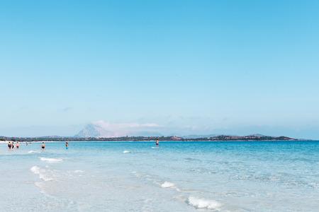 cinta: Mediterranean sea water at La Cinta beach,  San Teodoro, Sardinia, Italy.