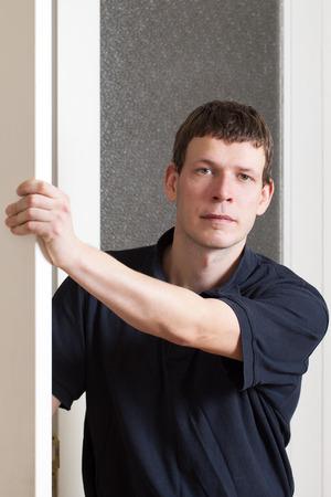 Young man in doors. photo