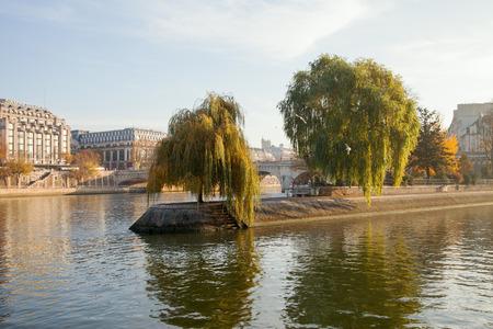 cite: Seine river and Cite island in Paris, France.