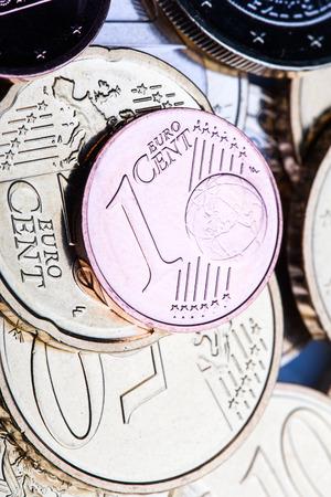 euro coins: Euro coins. Stock Photo