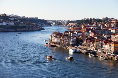 douro: Evening at Douro river in Porto, Portugal.