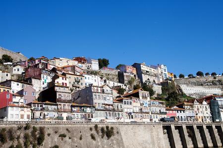 douro: Morning at Douro river in Porto, Portugal. Stock Photo